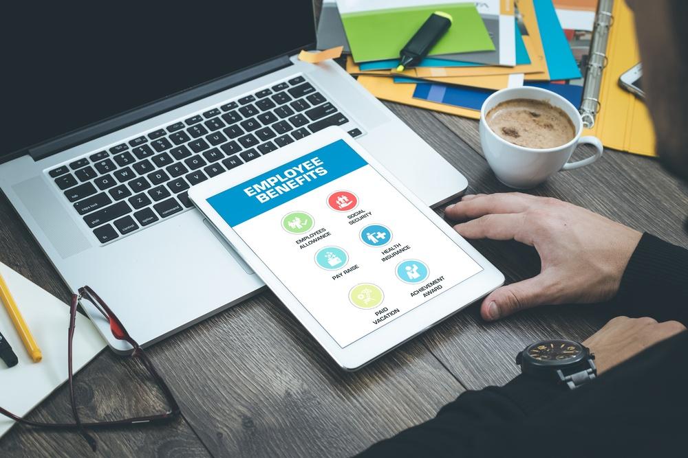 Employee benefits - iPad, laptop, desk